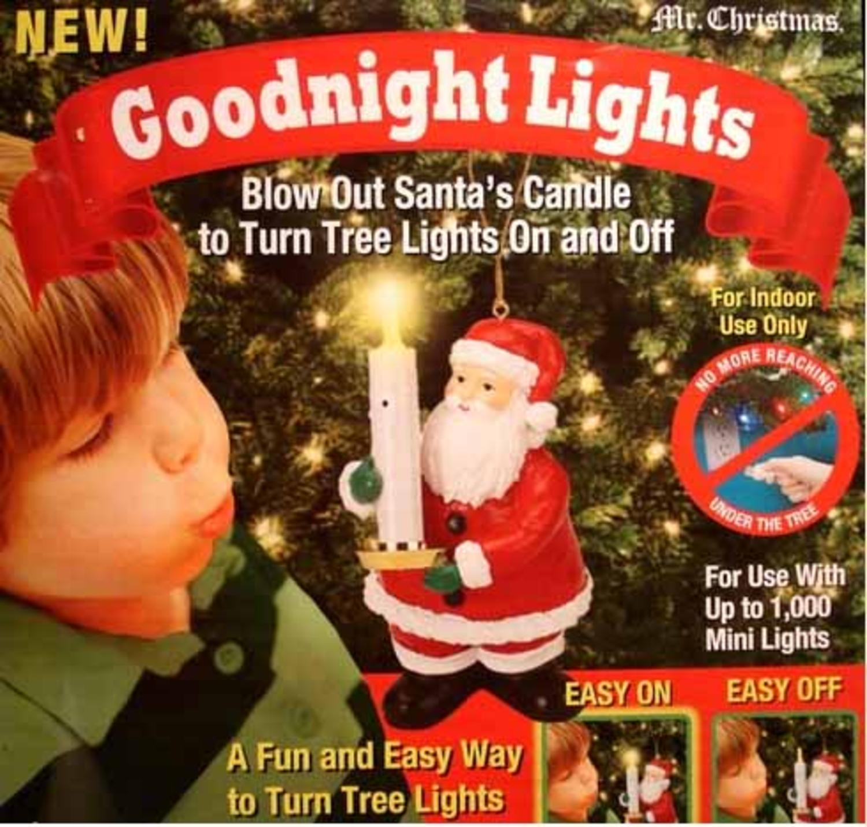 mr christmas santa claus candle controller goodnight lights for tree 39691 walmartcom - Mr Christmas Tree