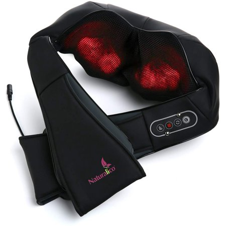 Shiatsu Massager Kneading Massage Therapy for Back, Neck and Shoulder Pain Relieves Sore Muscles Total Body Relaxation