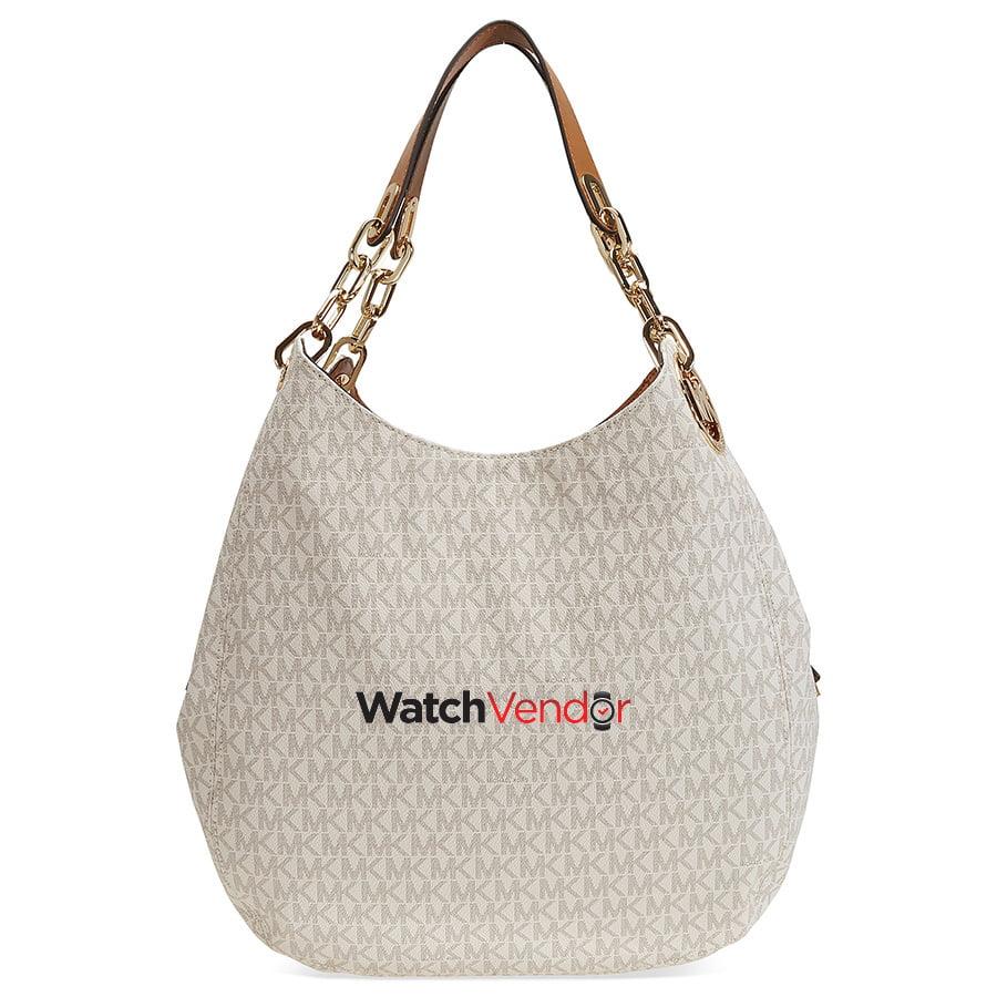 8f627cec0313f5 Michael Kors Fulton Large Logo Shoulder Bag - Vanilla | Walmart Canada
