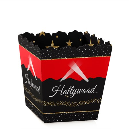 Red Carpet Hollywood - Party Mini Favor Boxes - Movie Night or Birthday Party Treat Candy Boxes - Set of 12