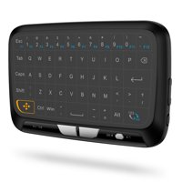 H18 Wireless Keyboard Full Touchpad Remote Control Keyboard Mouse Mode with Large Touch Pad Vibration Feedback for Smart TV Android PC Laptop