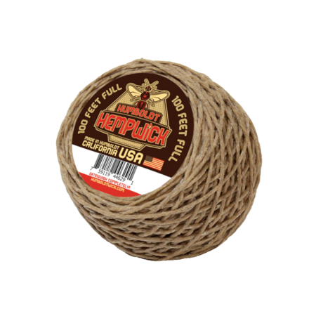 100% Hemp (Humboldt Hemp Wick 100 Ft Bee Hemp Line Lighter Hempwick)