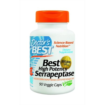 Doctor's Best High Potency Serrapeptase (120,000 Units), 180-Count Pack (yw1tpr) 180
