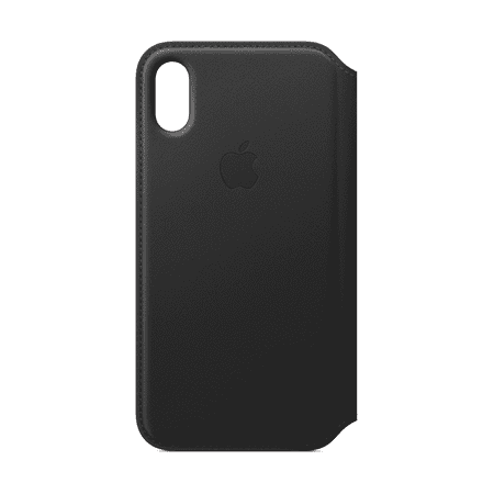 Apple Leather Folio for iPhone X - Black