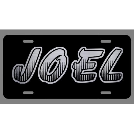 Joel Name Etched Style License Plate Tag Vanity Novelty Metal | Etched Aluminum | 6-Inches By 12-Inches | Car Truck RV Trailer Wall Shop Man Cave |