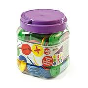 Miniland Lacing Buttons: 140 Pieces / Jar