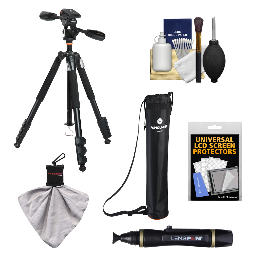 "Vanguard Alta  234AP 57"" Aluminum Alloy Tripod with PH-22 Panhead & Case with Lenspen   Accessory Kit"