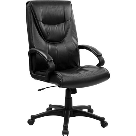 Flash Furniture Executive Leather Office Chair With Arms