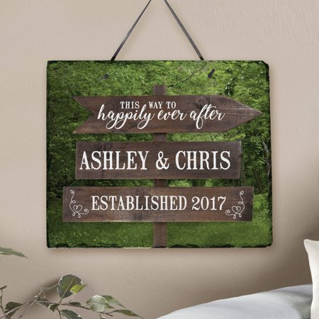 Personalized This Way to Happily Ever After Slate