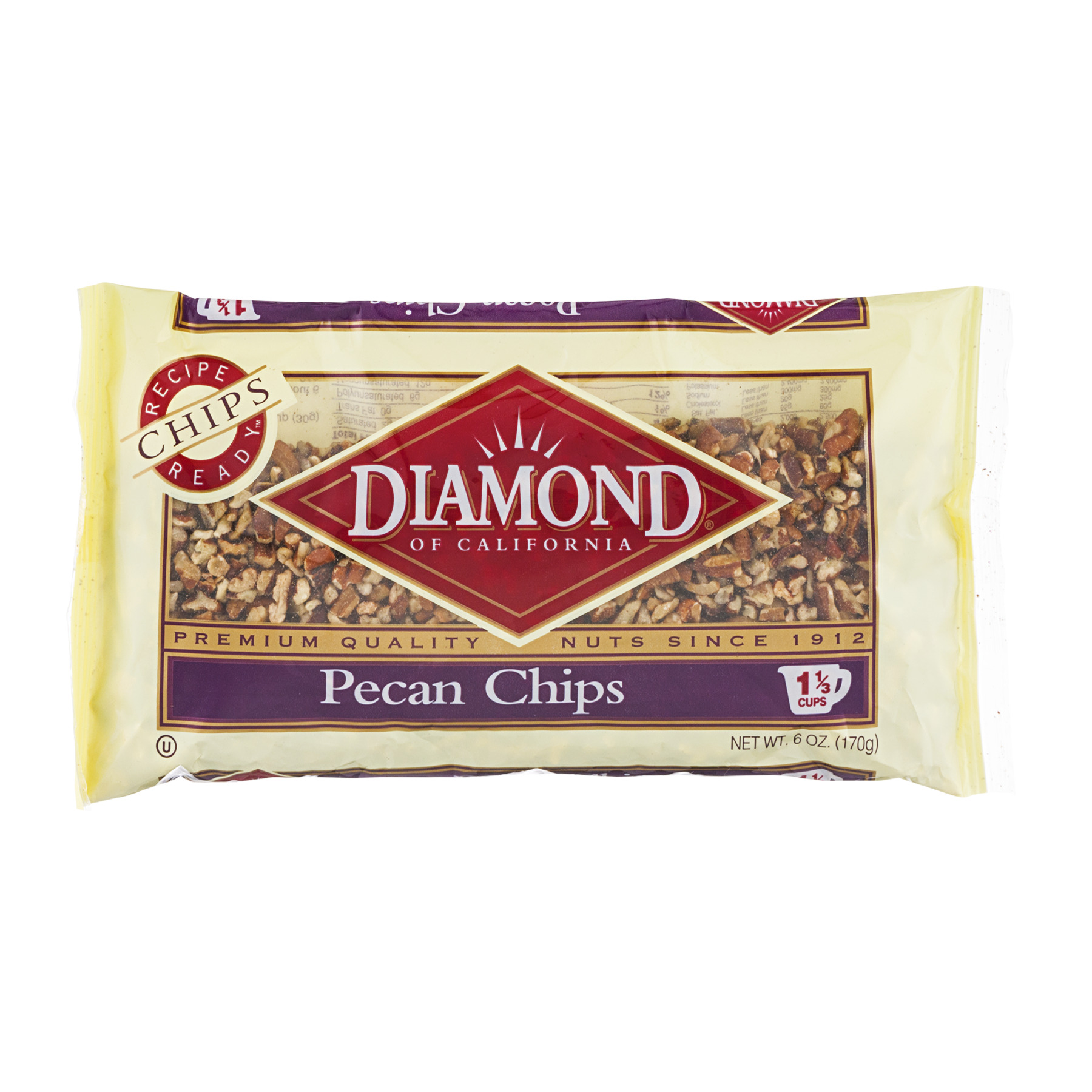 (2 Pack) Diamond of California Pecan Chips, 6 oz