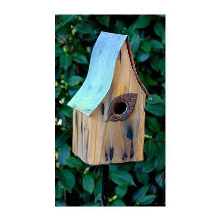 Shady Shed Bird House in Natural Finish