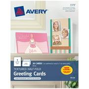 "Avery Printable Half-Fold Greeting Cards, 5-1/2"" x 8-1/2"", Inkjet Printers, 30 Blank Cards (3378)"