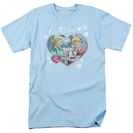 I Love Lucy Men's  The Best Present T-shirt Light