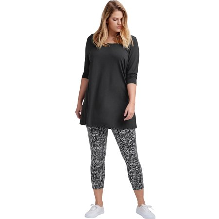 Ellos Plus Size Pull-on Capri Leggings](Skeleton Leggings Plus Size)
