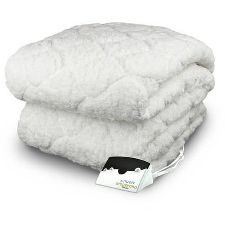 Biddeford Electric Heated Sherpa, Quilted Mattress Pad, Queen