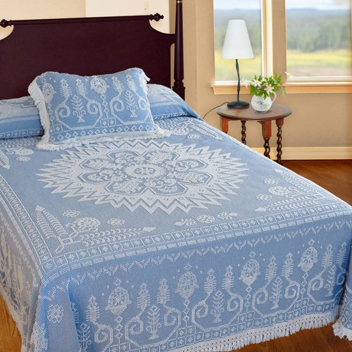 Maine Heritage Weavers Spirit of America Bedspread