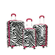 Rockland Luggage Safari 3-Piece Hardside Upright Luggage Set F195
