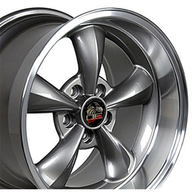 17 x 10.5 in. Wheel, Anthracite Machined Lip for Ford Mustang Bullitt