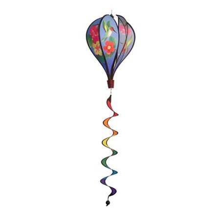 In the Breeze Hummingbird Flowers Hot Air Balloon Wind Spinner
