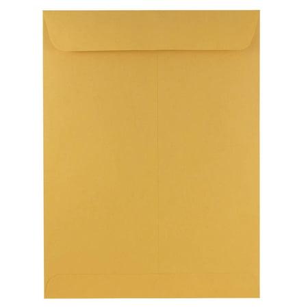 JAM 9 x 12 Open End Envelopes, 25/Pack, Brown Kraft Manila ()