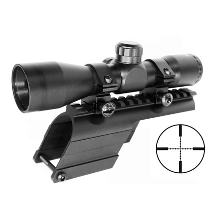 Hunting 4x32 scope and mount kit for Mossberg 500 / Maverick 88 Series 12ga. Shotgun, single rail