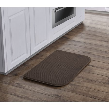 VCNY Home Solid Memory Foam Kitchen Rug, 19 x 31, Chocolate ...