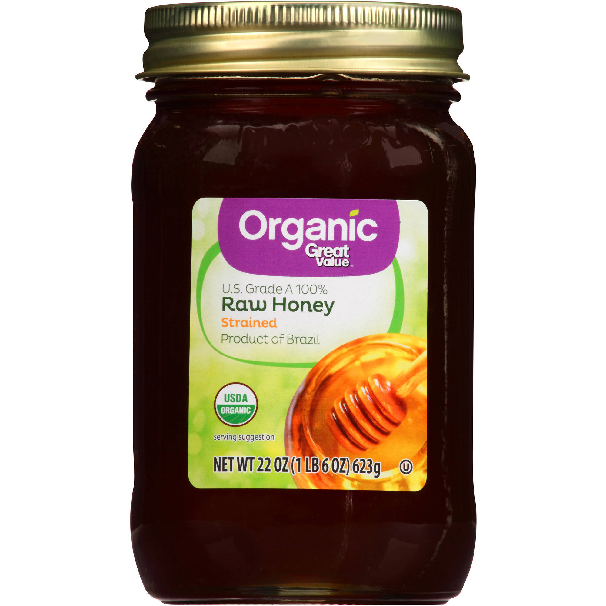 Great Value Organic Raw Honey, 22 oz by Wal-Mart Stores, Inc.