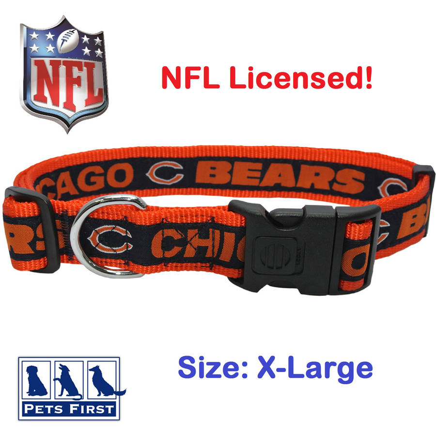 NFL Chicago Bears Strong, Durable, Heavy-Duty Dog Collar, Officially Licensed