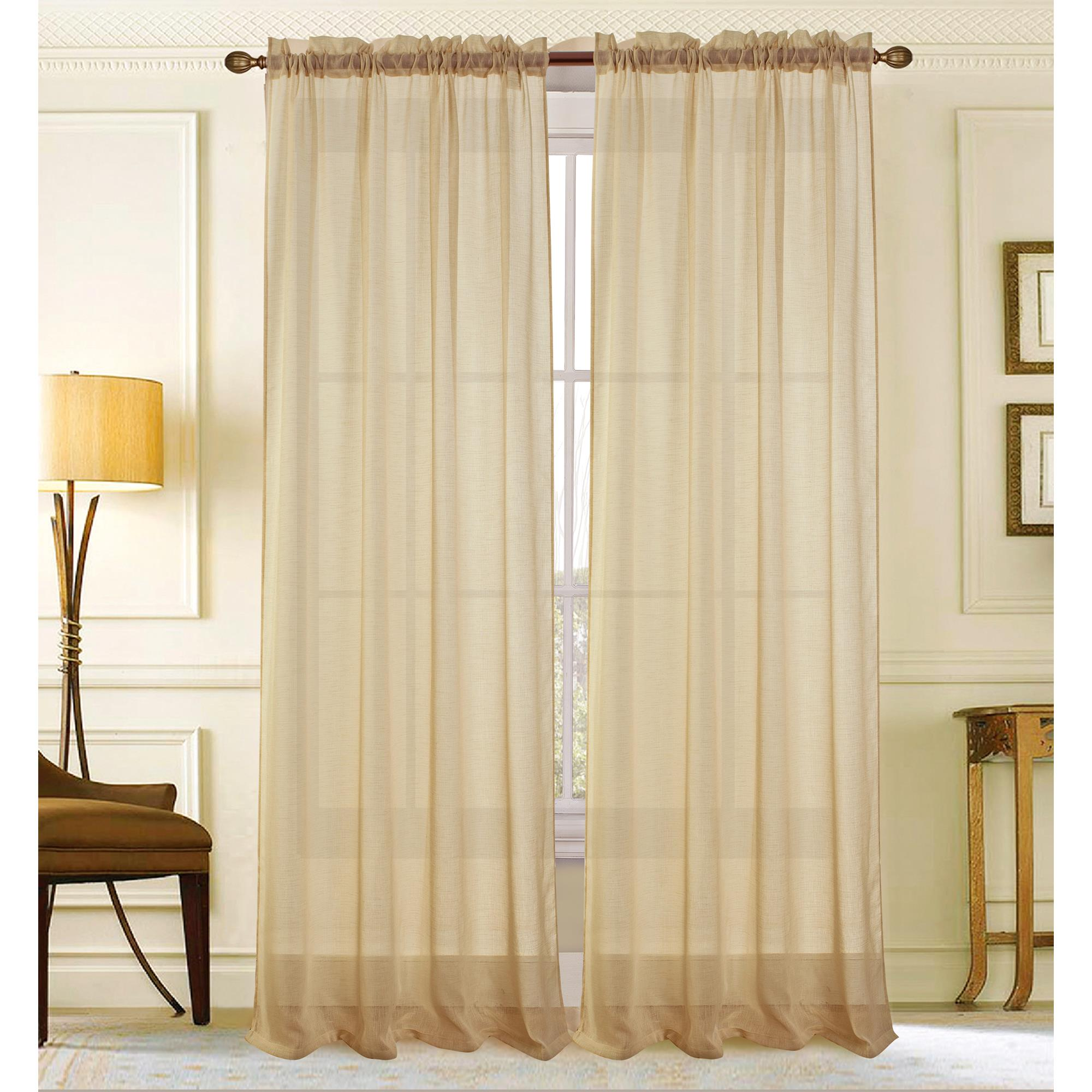 Astro Textured 54 x 90 in. Rod Pocket Curtain Panel, Beige by Ramallah Trading Company, Inc.