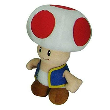 Nintendo Super Mario Bros 7 Inch Toad Plush Toy (Super Mario Toad)