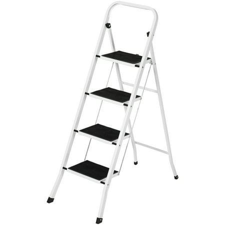 Best Choice Products Portable Folding 4 Step Ladder Steel Stool 300lb Heavy Duty Lightweight (kitchen step ladder for kids)