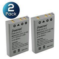 7c753f6c6e0 Product Image Insten 2-Pack EN-EL5 Replacement Battery for Nikon CoolPix  P90 P100 P500 P510