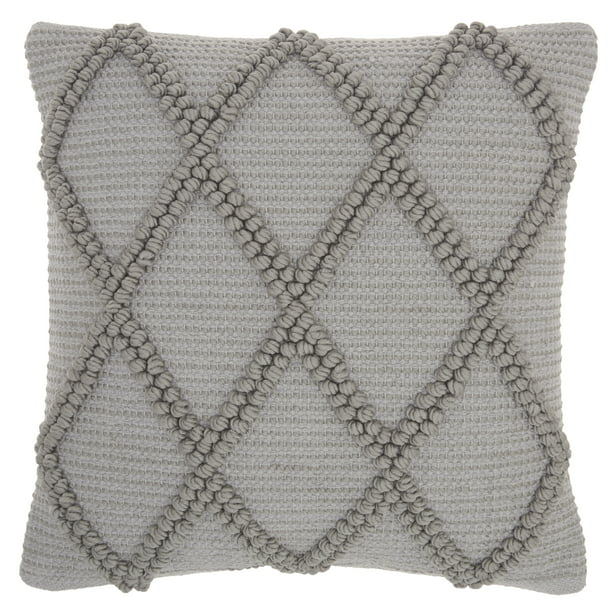 "Nourison Life Styles Lt Grey Decorative Throw Pillow , 18""X18"""