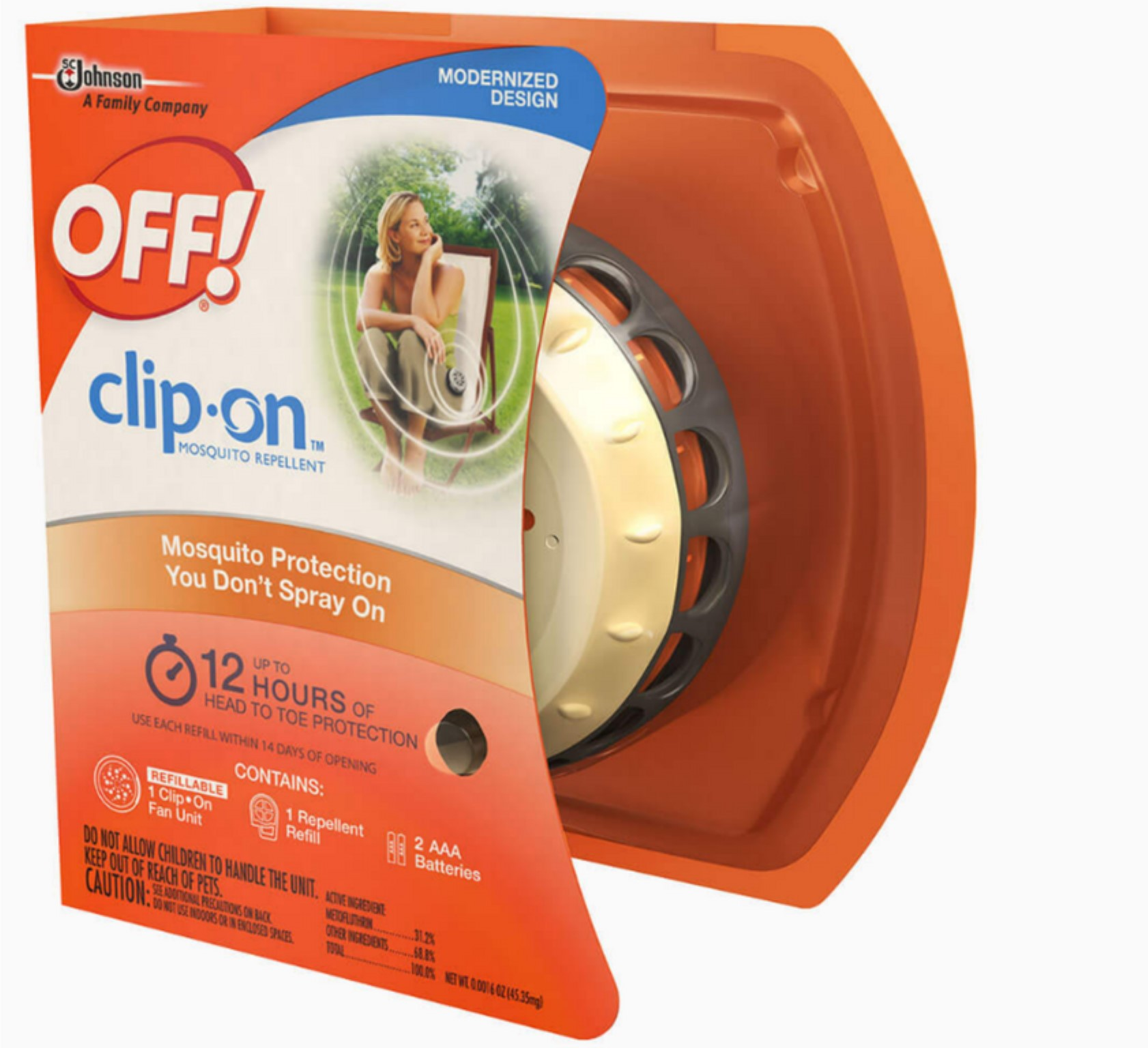 3 Pack - OFF! Clip On Mosquito Repellent Fan Unit 1 ea