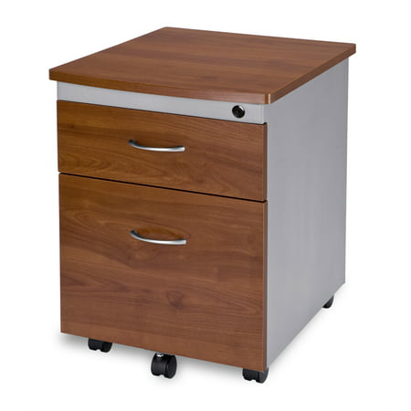 OFM Model 55106 Modular Wheeled Mobile 2-Drawer File Cabinet Pedestal, Cherry