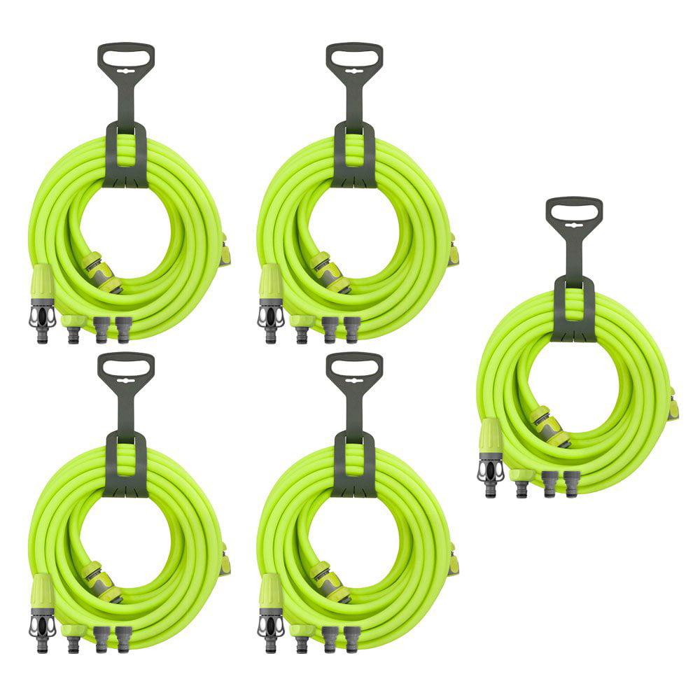 Flexzilla Garden Hose Kit w/ Quick Connect, Nozzle, & Hanger (5 Pack)