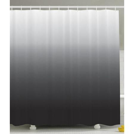 Home Decor Ombre Colorful Design Art Print Fabric Extra Long Shower ...