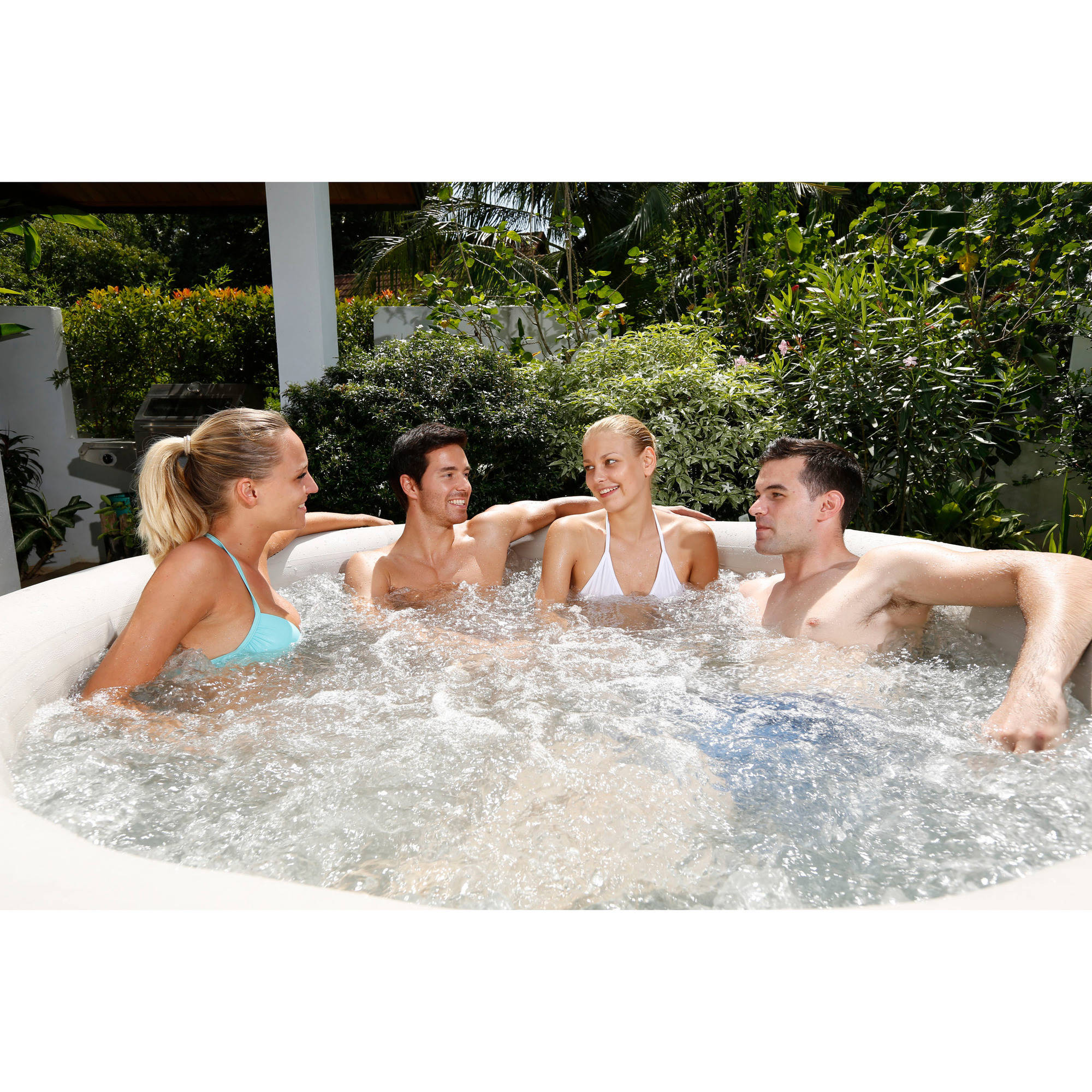 Coleman SaluSpa 4-6 Person Inflatable Portable Massage Hot Tub Spa ...