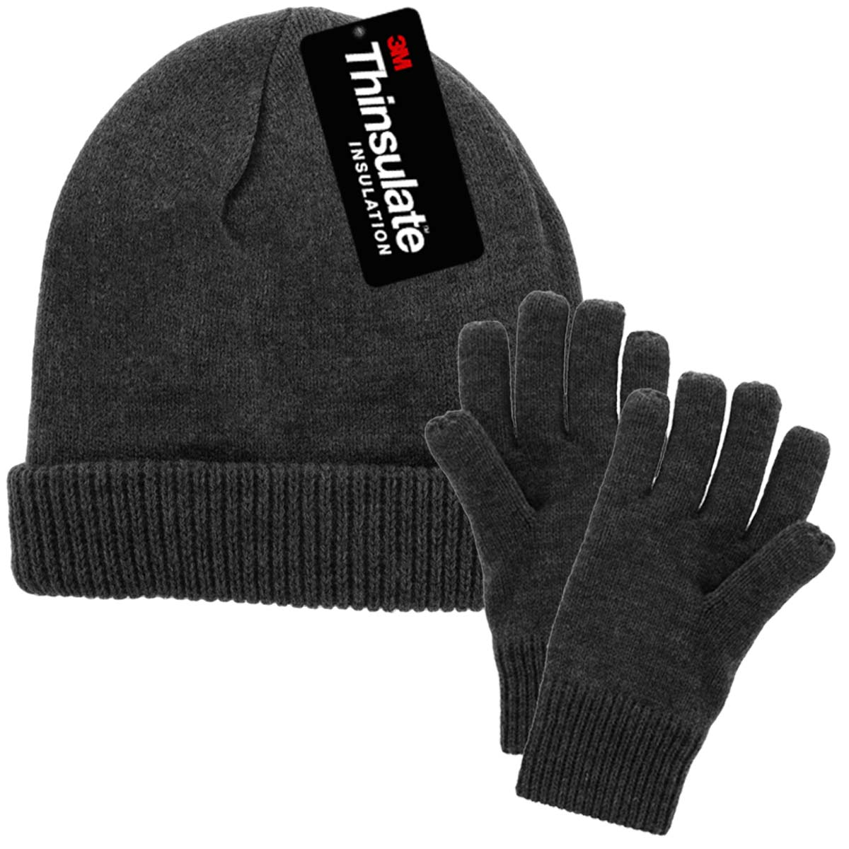 af42ac35631 DG Hill - DG Hill Mens Winter Hat And Gloves Set with 3M Thinsulate Fleece  Lining Beanie - Walmart.com
