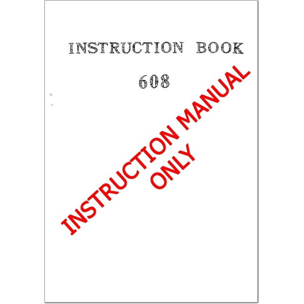 Janome Spare Part 608 Sewing Machine Owners Instruction