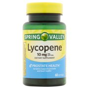 Spring Valley Lycopene Softgels, 10 mg, 60 Count