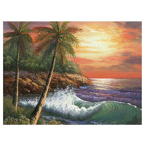 "Trademark Fine Art ""Maui Sunset"" Canvas Art"