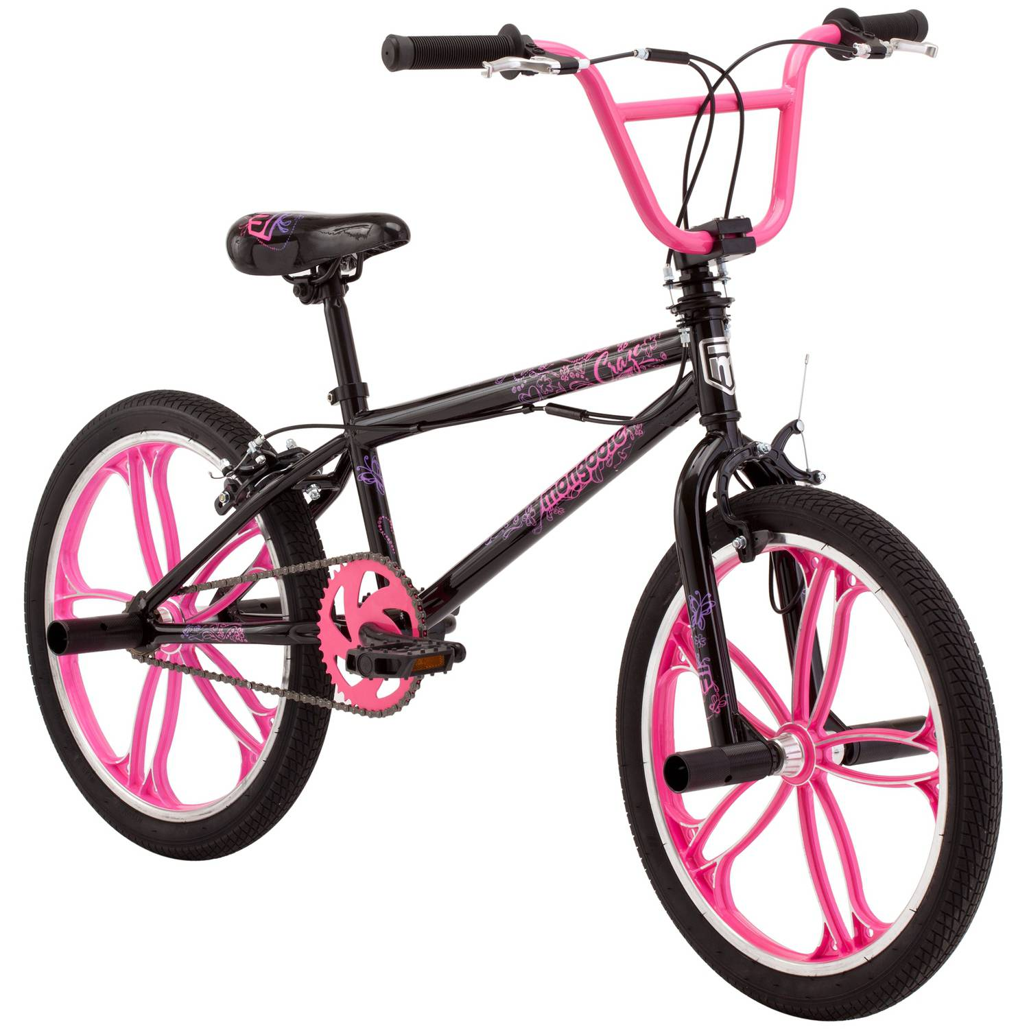 "20"" Mongoose Craze Freestyle Girls' BMX Bike"