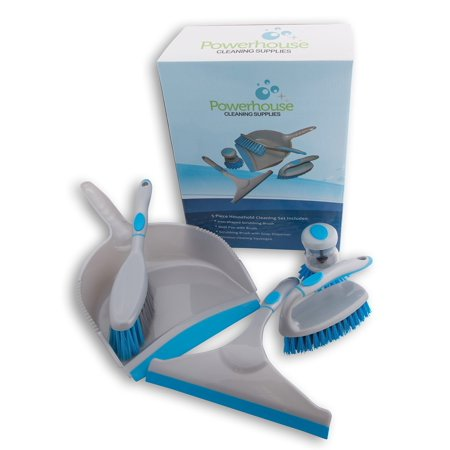 Sinkware Set - Scrub Brush Set 5 Piece Household Cleaning Supplies: Stiff Bristle Brushes,Carpet Kitchen,Bathroom.Clean the Bathtub Shower Sinkware Dishes Water Bottle Scrubbing Grout Tile Remove Urine Pet Stains