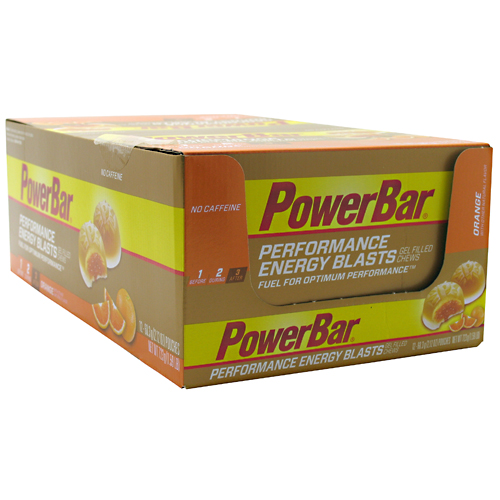 PowerBar Performance Energy Blasts Gel Filled Chews, Orange, 2.12 Ounce (Pack of 12)