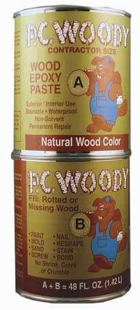 Pc Products 643334 Wood Filler Epoxy Adhesive, Tan by Protective Coatings