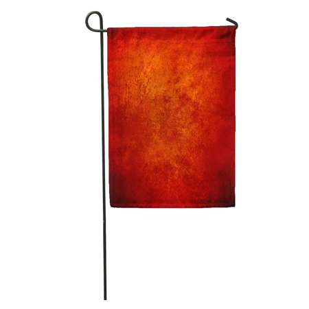 LADDKE Abstract Orange Red Gold Warm Colors Black Corners Vintage Rough Distressed Sponge Fall Autumn Halloween Garden Flag Decorative Flag House Banner 12x18 inch (Corner Brewery Halloween)