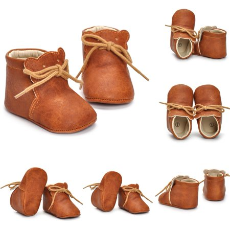 Lovely Cat Soft Sole PU Leather Ankle Boots Shoes for Baby Infant Toddler Boys Girls HOT (Hot Widow Boots)