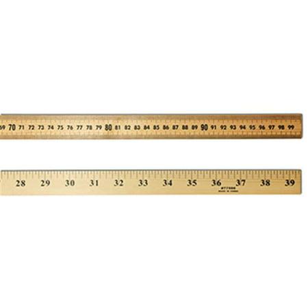 Charles Ruler - CHARLES LEONARD CHL77590 100.3 x 0.6 x 2.5cm Wood Meter Stick