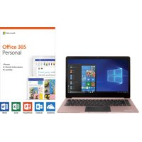"EVOO 14.1"" Ultra Thin Laptop with Microsoft Office 365"